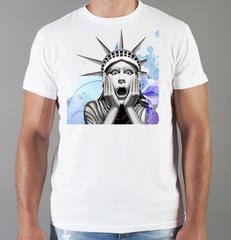 Футболка с принтом США, Статуя Свободы (USA/ Statue of Liberty ) белая 002