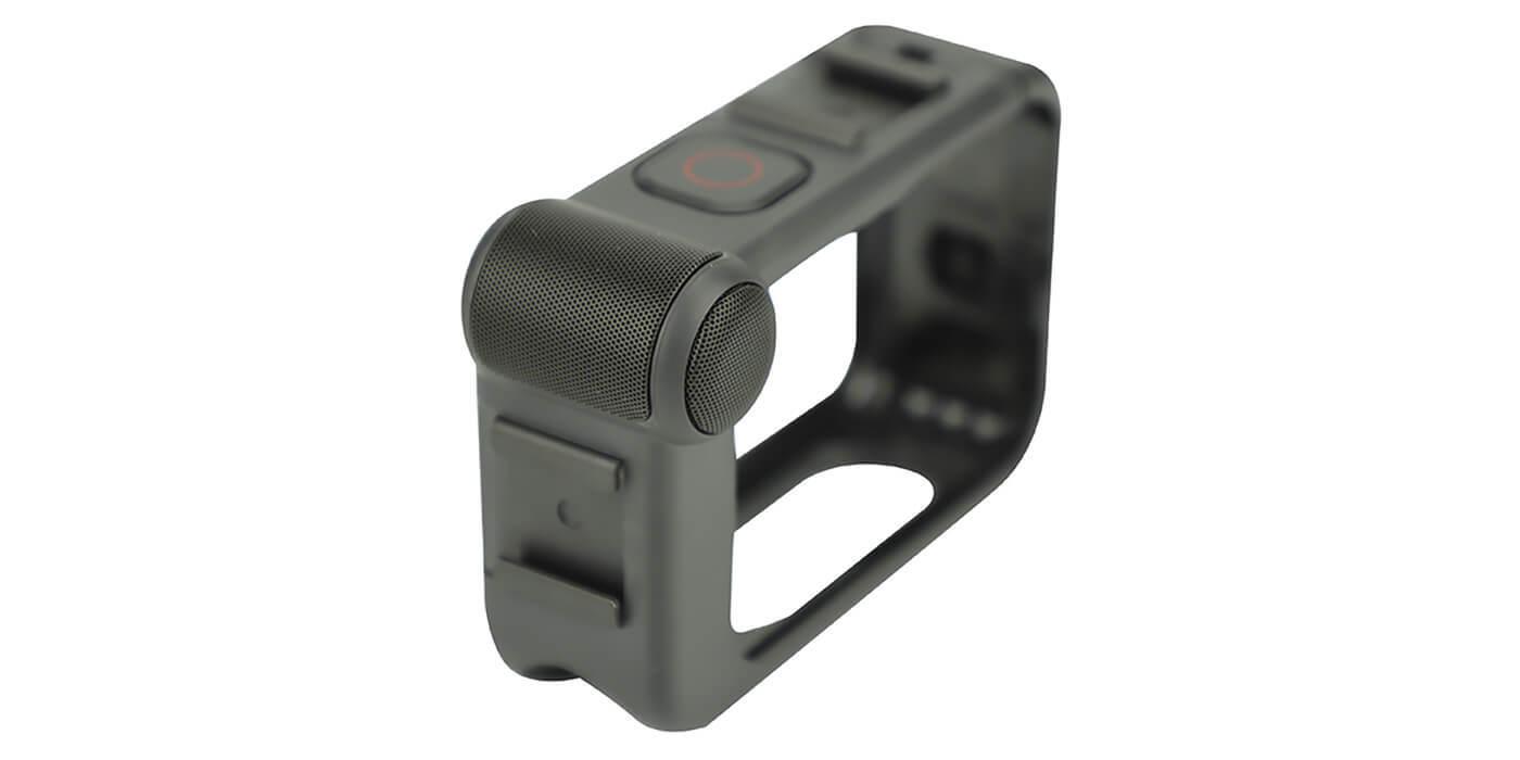 Медиамодуль с микрофоном и HDMI для GoPro HERO8 (AJFMD-001) вид сбоку