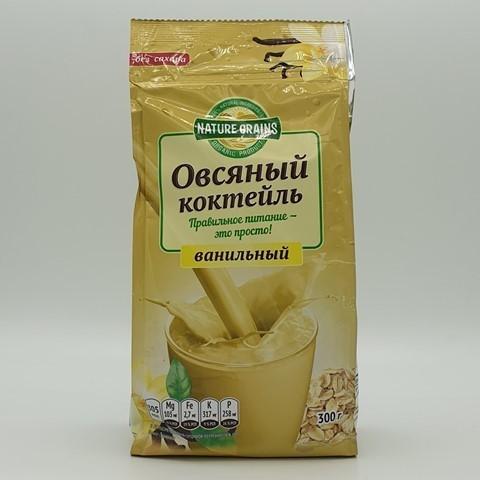 Коктейль овсяный с ванилью КОМПАС ЗДОРОВЬЯ, 300 гр