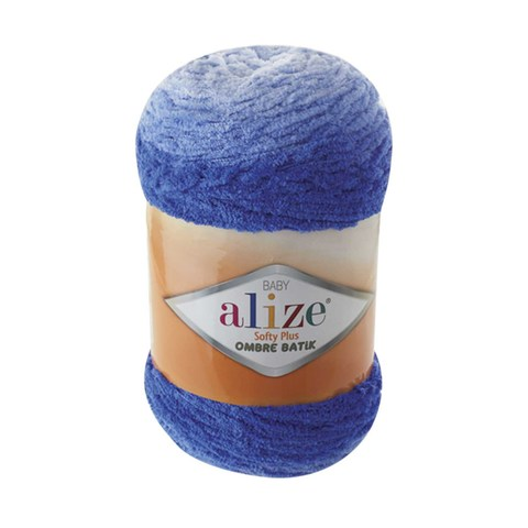Купить Пряжа Alize Softy Plus Ombre Batik Цвет 7282 Синий   Интернет-магазин пряжи «Пряха»