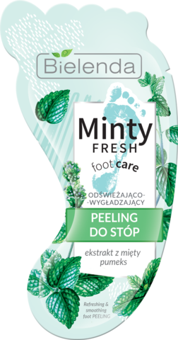 MINTY FRESH FOOT CARE освежающий разглаживающий скраб для ног 10 г (*18)