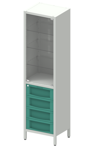 Шкаф лабораторный  ШКа-1 АйЛаб Organizer (вариант 10) - фото