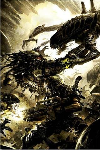 Постер Арт Чужой против Хищника