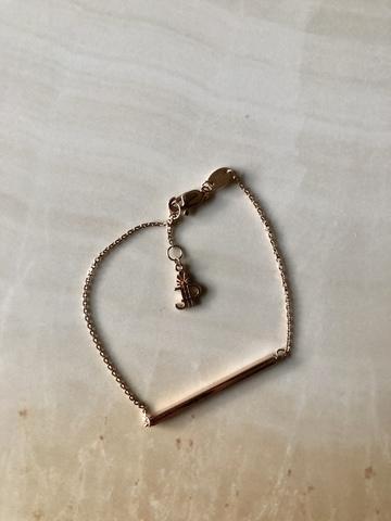 Браслет-палочка из позолоченного серебра