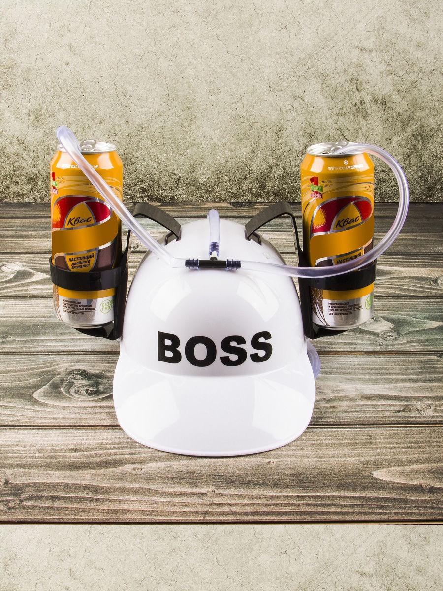 каска с подставками под банки пива рыбалку пивом не испортишь Каска с подставкой под банки Boss