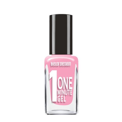 BelorDesign One Minute Gel Лак для ногтей тон 213 классический розовый 10мл