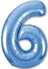 Р Цифра, 6 Slim, Синий,40''/102 см, 1 шт. в упак.