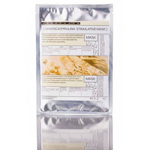 *Стимулирующая маска H16 (MESOPHARM/GINSENG&SPIRULINA/Женьшень спирулина витамин С/30г/H00016AG001)
