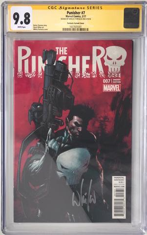 CGC The Punisher #7. Автограф Уилс Портацио. Состояние 9,8