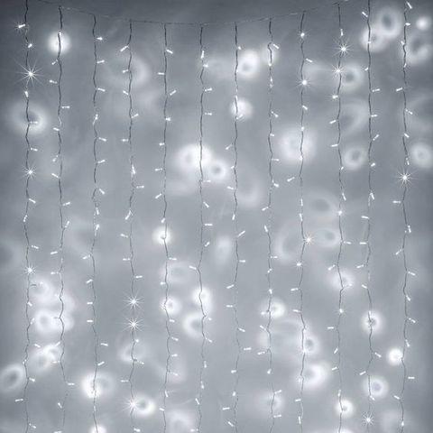 Гирлянда штора 1,5 на 1,5 метра светодиодная новогодняя