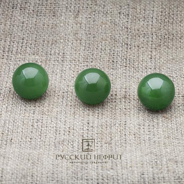 Вставки Шарик 12мм. Нефрит  зелёный (класс бриле). businy_zel_12_3.jpg