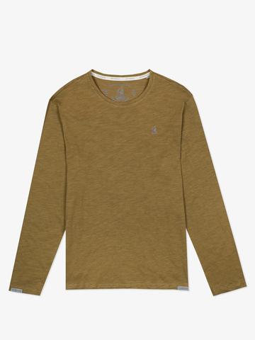 Long-sleeved crewneck pistachio t-shirt