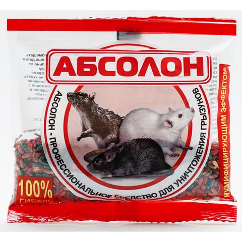 Средство для уничтожения грызунов Абсолон зерно 100 г