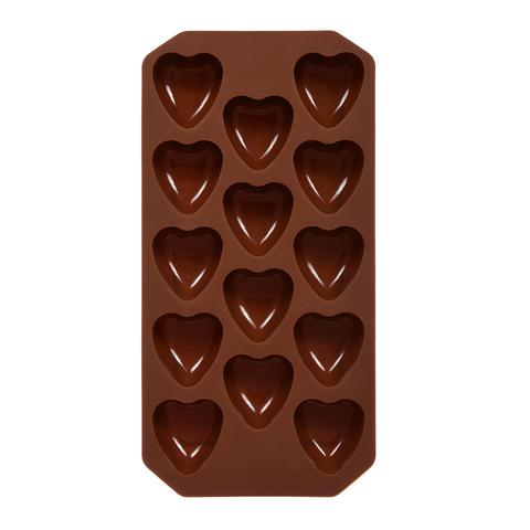 Форма силиконовая для приготовления льда, выпечки, мармелада «Сердечки» 21х10,5х2 см