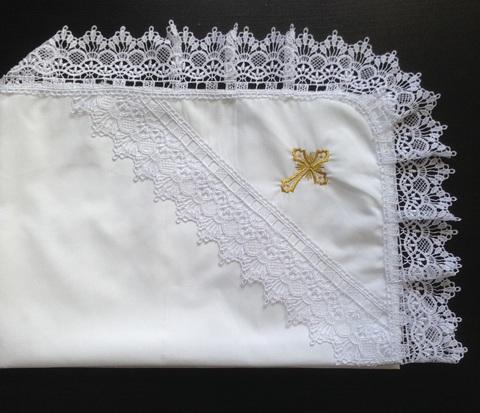 Крестильная пеленка Кружева