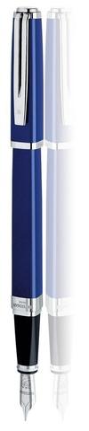 Перьевая ручка Waterman Exception, цвет: Slim Blue ST, перо: M (FM)