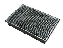 Лоток пластиковый 1000х90х90мм + пластиковая решетка (комплект) 088081