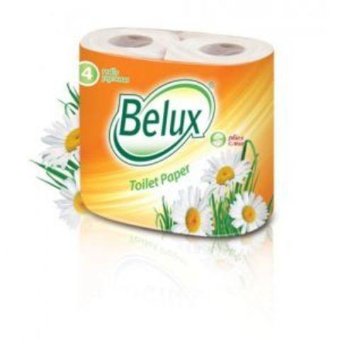 Туалетная бумага Belux 2сл. 4рул/уп бел. 1/12