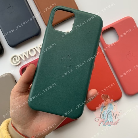 Чехол iPhone 11 Pro Leather Case /forest green/