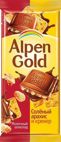 """Шоколад """"Alpen Gold"""" с соленым арахисом и крекером 90 г"""