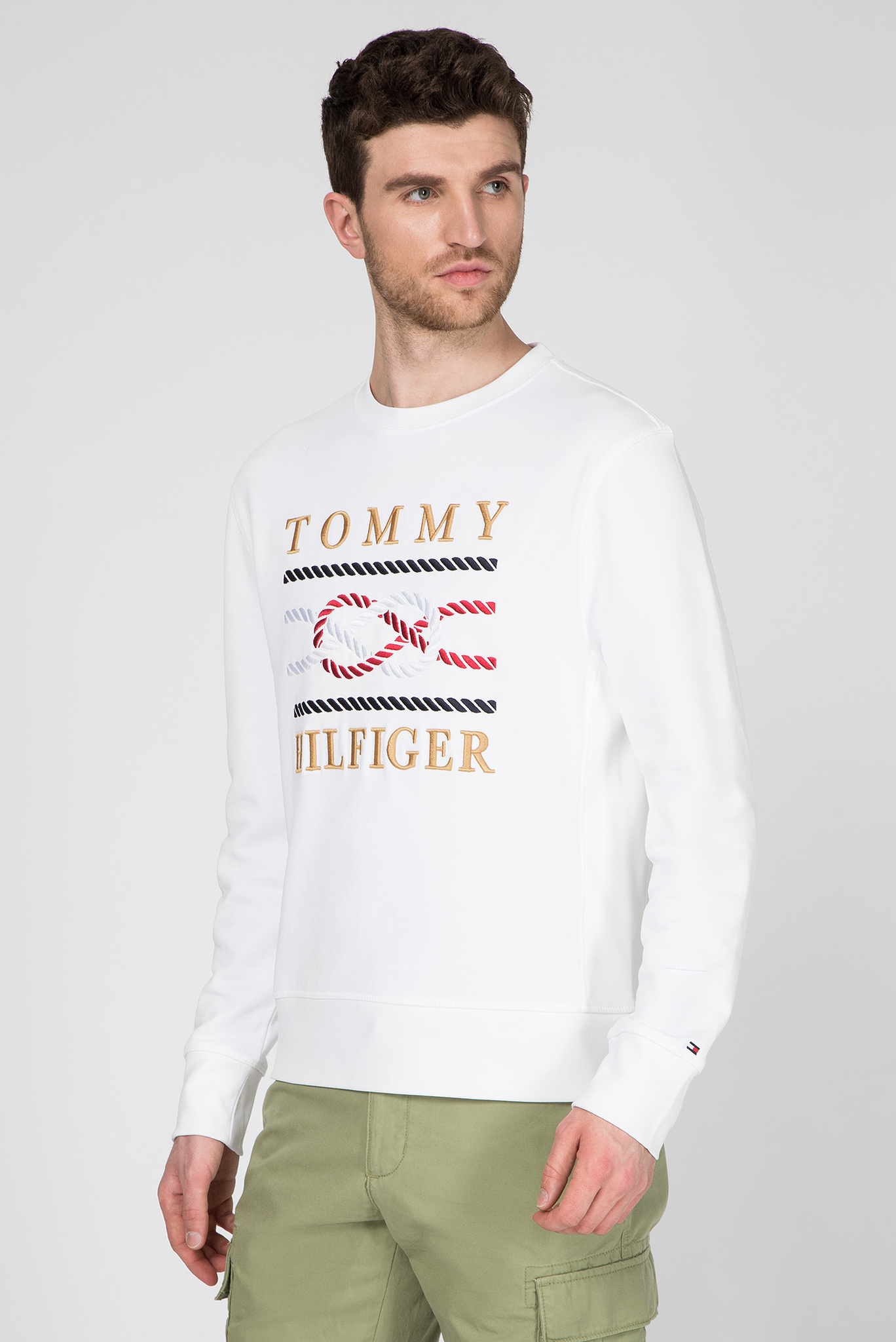 Мужской белый свитшот ICON Tommy Hilfiger