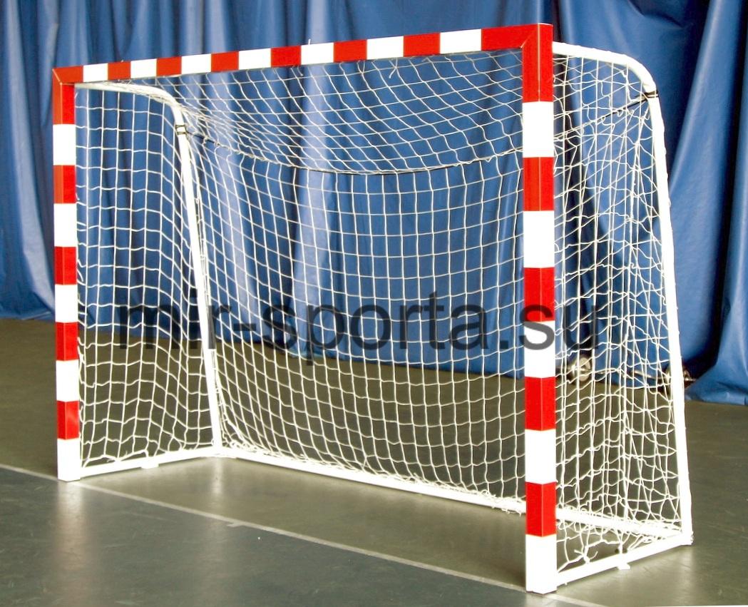 Ворота для минифутбола с красной разметкой