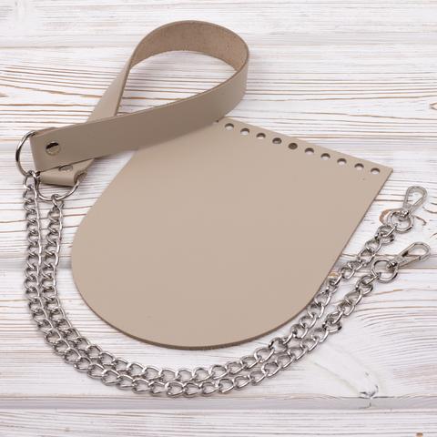 """Комплект для сумочки Орео """"Кремовый"""" N4 без метал. фурнитуры"""