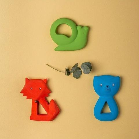 Игрушка-прорезыватель Улитка из каучука