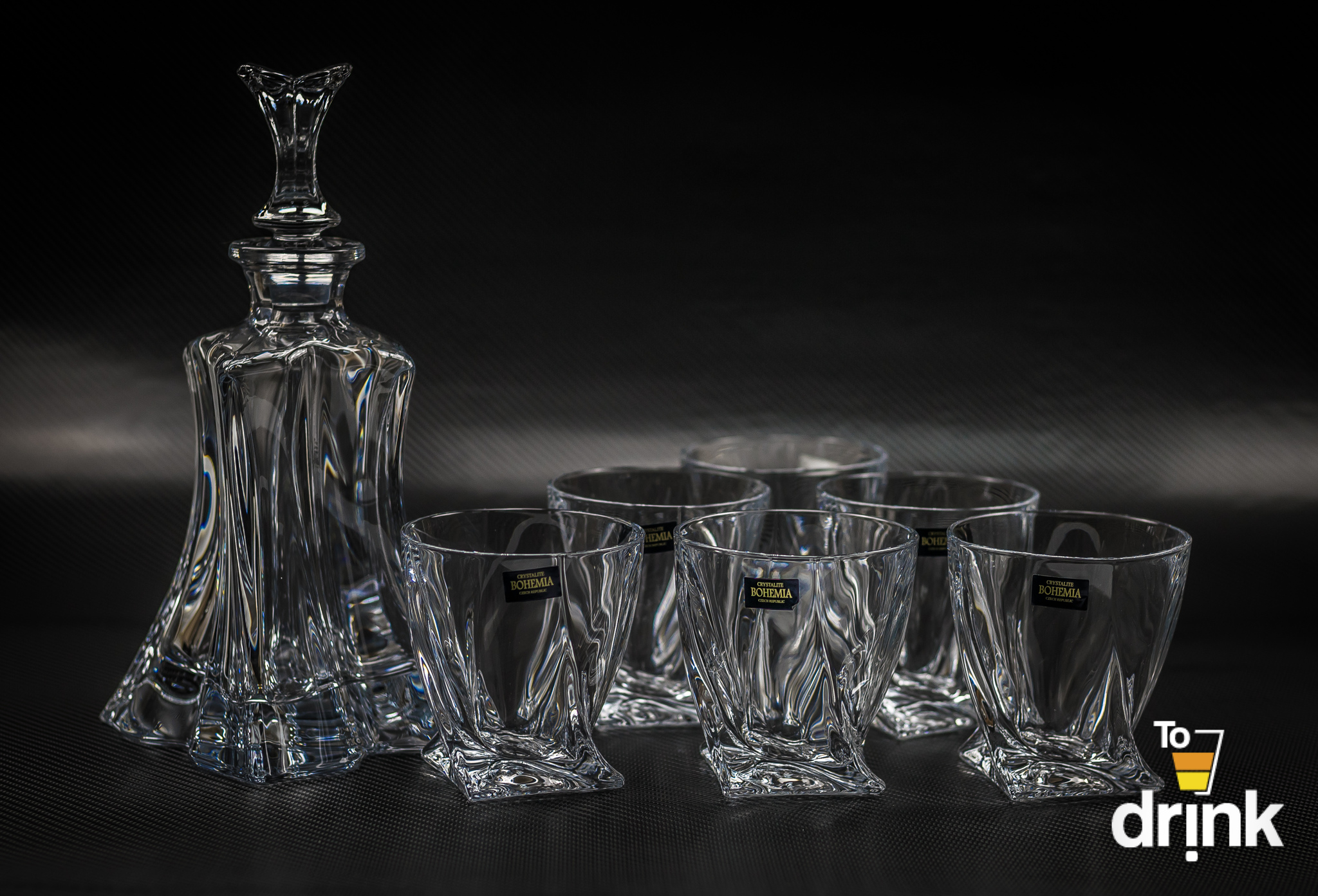 Набор для виски FLORALE, 1 штоф и 6 бокалов гамма набор из 6 бокалов для виски регина
