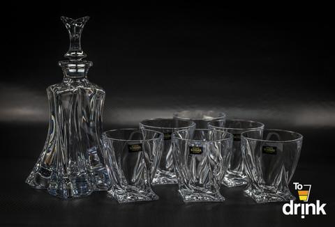 Набор для виски FLORALE, 1 штоф и 6 бокалов