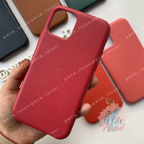 Чехол iPhone 11 Pro Leather Case /pink fuchsia/