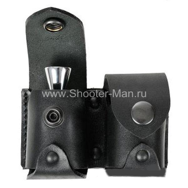 Чехол под револьверный мунклип с магнитным держателем двухместный