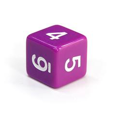 Куб D6: Фиолетовый 16мм с цифрами