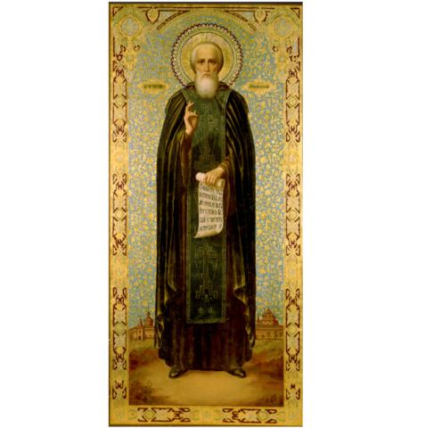 Икона святой Сергий Радонежский на дереве на левкасе  мастерская Иконный Дом