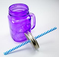 Баночка для смузи и коктейлей, фиолетовая, фото 3