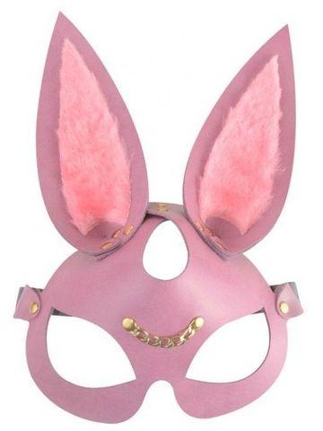 Розовая кожаная маска