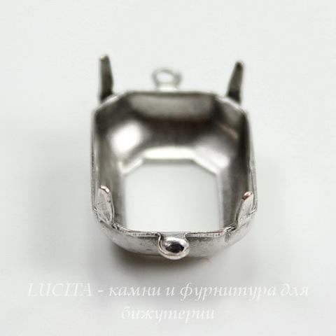 Сеттинг - основа - коннектор (1-1) для страза 18х13 мм (оксид серебра) ()