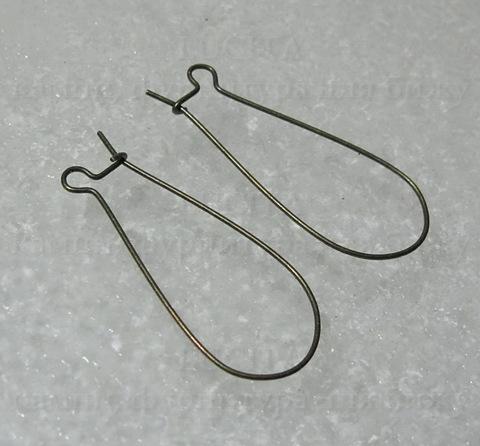 Швензы - петли длинные  (цвет- античная бронза) 35х15 мм ()
