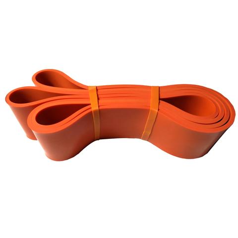 Купить оранжевую резиновую петлю эспандер для тренировок и фитнеса 69 - 85 кг
