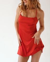 Платье короткое красное Lilit