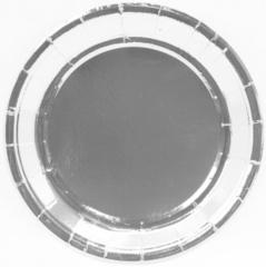 Тарелки (9''/23 см) Серебро, 6 шт.