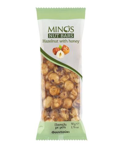 Фундук и мед. Ореховый батончик Candia Nuts 50гр.