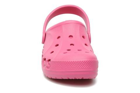 Сабо Крокс (Crocs) пляжные шлепанцы кроксы для девочек, цвет розовый. Изображение 4 из 7.