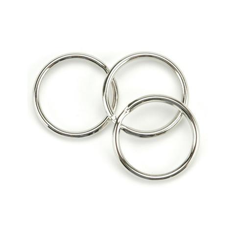 Комплект разьемных колец -Nickel Split Key Rings- 10 шт/2,6 см