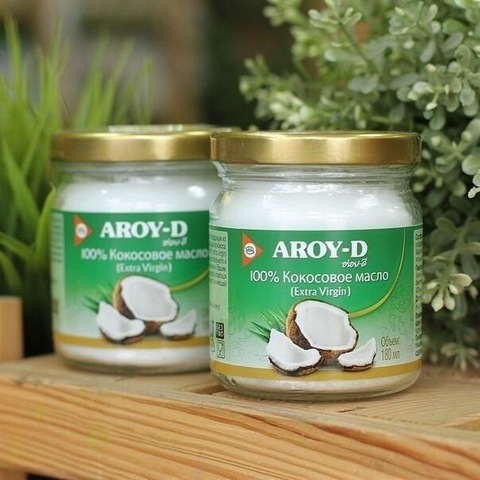 Кокосовое масло Aroy-D, 180 мл. (Таиланд)