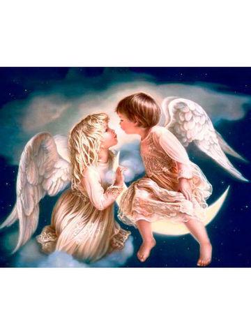 Картина раскраска по номерам 40x50 Дети ангелы