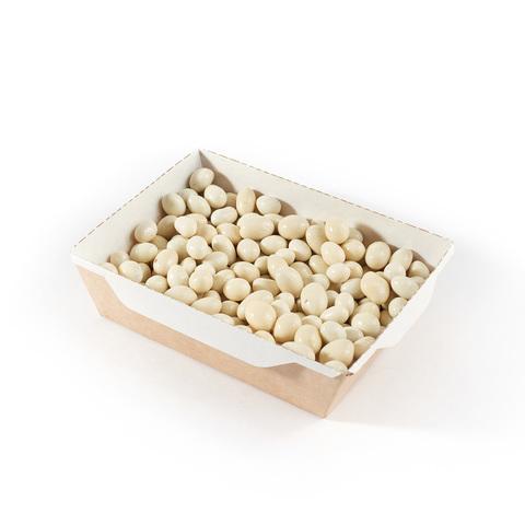 Арахис в белой шоколадной глазури