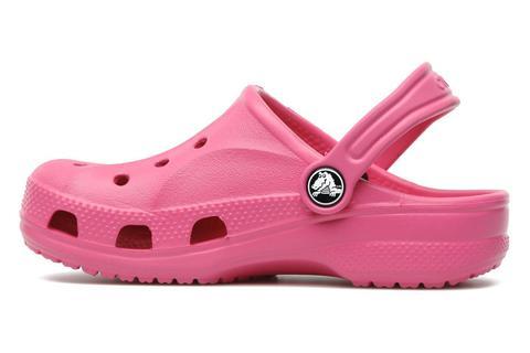 Сабо Крокс (Crocs) пляжные шлепанцы кроксы для девочек, цвет розовый. Изображение 2 из 7.