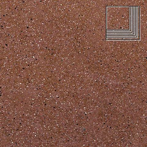 Ceramika Paradyz - Taurus Brown, 300x300x11, артикул 5289 - Ступень угловая структурная