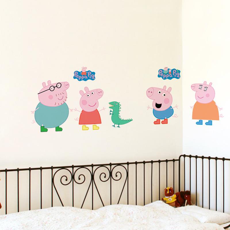 Семья Розовой свинки 3D наклейка